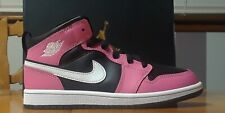 NIKE AIR JORDAN 1 MID (PS) BLACK/WHITE PINKSICLE YOUTH SIZE 2.5Y NEW IN BOX