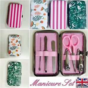 Small Manicure Set Travel Bag Manicure Case Clippers Nail file Scissors Tweezers
