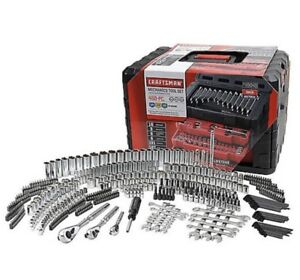 Craftsman 450 Piece Mechanics Tool Set W/Case Wrenches SAE Metric 268 298 NEW