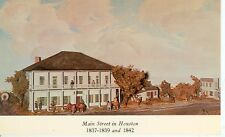 HOUSTON,TEXAS-MAIN STREET IN HOUSTON-DIORAMA 1837-1839 AND 1842-(HTX-BOX-300*)
