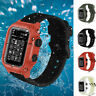 for Apple Watch Series 5 4 3 2 1 Waterproof Sport Silicone Band Strap Case Cover