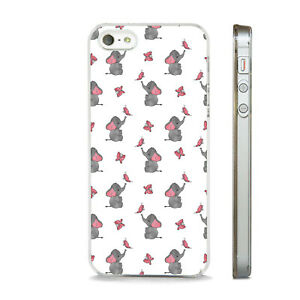CUTE ELEPHANT BUTTERFLY PRINT ART  PHONE CASE COVER FITS  APPLE IPHONE MODELS.