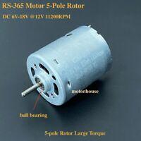 MABUCHI RS-365PH-17125 DC 6V-18V 12V 6500RPM Large Torque Micro Round 28mm Motor