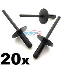 20x BMW PLASTICA POP Rivetti ciechi 6mm, dei passaruote, lato gonne, davanzali & PARAURTI
