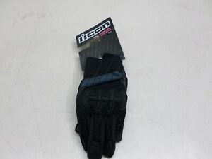 NEW ICON WOMEN'S OVERLORD 2 STEALTH MEDIUM MOTORCYLCE GLOVES PART# 3302-0401