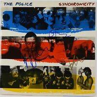 The Police Signed Autograph Record JSA Sting Copeland Andy Summers Synchronicity