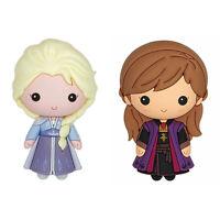 Disney Frozen 2 Elsa Ice Queen & Anna Purple Dress 3D Refrigerator Magnet -2Pack