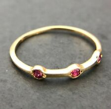 Zierlicher Rubin Ring aus 585 14K Gold