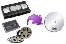 Conversione VHS Video8 hi8 Minidv pellicole 8mm Super8 su DVD o USB Disk sony