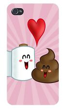 Best Friends Toilet Paper Loves Poop FITS iPhone 4 4s Plastic Snap On Case Cover