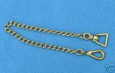 "18"" Brass Lightweight Stallion Chain Walsall Clip English Welsh Pony Cob Show"
