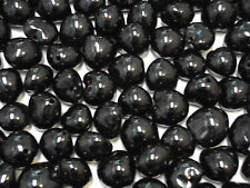 Kukui Nut Beads Loose BLACK Nuts Glossy 100 Pieces