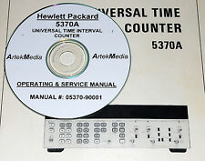 HP 5370A UNIVERSAL TIME INTERVAL COUNTER  OPERATING & SERVICE MANUAL