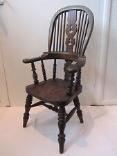 ASH & ELM HIGH BACK CHILD'S WINDSOR ANTIQUE STYLE CHAIR FREE UK POSTAGE