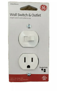 GE Wall Switch & Outlet 59797 Single Pole 15A White **FREE SHIPPING**