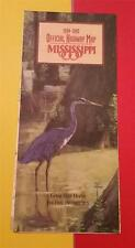 """1994-95 MISSISSIPPI OFFICIAL STATE HIGHWAY ROAD FOLD MAP"" GREAT BLUE CRANE"