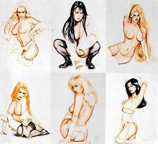 1995 Olivia Studies in Sensuality UNCUT SHEET  Comic Images - 6 card - Very Rare