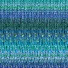 NORO ::Kagayaki #04:: wool cotton silk yarn Sky-Blue-Greens