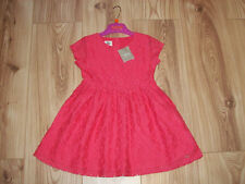 NEW GIRLS NEXT DRESS 1.5-2 YEARS,Bright pink floral lace lined party dress