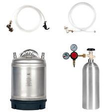 Keg Kit: 2.5 Gal Ball Lock Keg, 5 lb. CO2 Tank, Regulator & Parts - SHIPS FREE