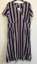Cotton traders stripe printed dress Size 14 {N102}