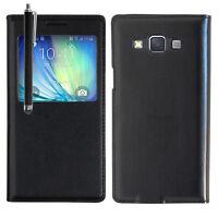 Etui coque plastique S View Case Samsung Galaxy A5 SM-A500F A500H A500K/ A5 Duos