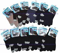 Wholesale 12 Pairs Magic Touch Screen Knit Gloves Smart Phone Tablet ONE SIZE NY