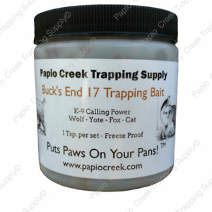 Papio Creek Buck's End 17 Trapping Bait 8 oz Wolf, Yote, Fox, Cat Freeze Proof