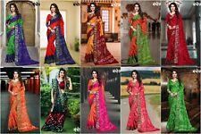 Beautiful Indian Ethnic Bollywood Sari Party Wear Bandhani Saree Fancy Blouse MS