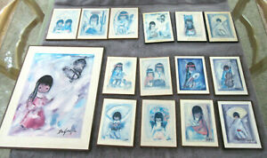 Ted DeGrazia Bell of Hope & 14 Small Wall Plaques Wall Decor Lot of 15 ***L@@K**