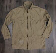 LL Bean Tan Safari Field Barn Style Jacket Mens XXL Tall ** Wear ** 2XL 2XLT