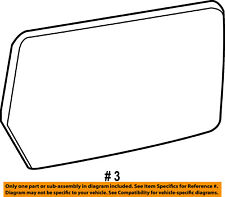 FORD OEM 11-14 F-150 Door Rear Side View-Mirror Glass Left BL3Z17K707F