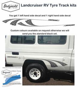 TOYOTA LANDCRUISER TROOP CARRIER Tyre Track Decals Black