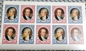 USPS Scott # 3855-56 LEWIS & CLARK  STAMP PANEL Ten, 37 cent stamps MINT SA 2004