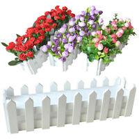 KE_ Wooden Flower Pot Fence Plant Basket Container Planter Home Decor Eyeful