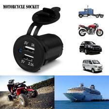 5V 4.2A Dual USB Charger Socket Adapter-Power-Outlet for 12V-24V Car Motorcycle.