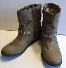 Sugar Indeed Women's Boots Size 6.5 Taupe Tan Bootie Western Mid Calf