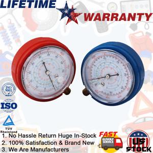 HVAC A/C R410A R134A R22 R404A High & Low Refrigerant Pressure Gauge PSI KPA-US