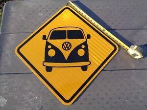 """VW Volkswagen Van Metal Sign 18"""" X 18""""  Reflective - Beetle Bug Volkswagen"""