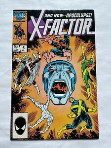 WOW! X-Factor #6 July 1986 1st Full Appearance of Apocalypse Marvel Comics