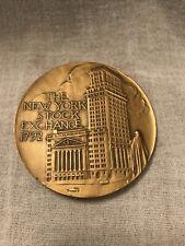 New ListingNew York Stock Exchange Bull 1792 Solid Bronze Medal