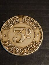 More details for welsh pub token thorn hotel abercynon 3 penny (united kingdom)
