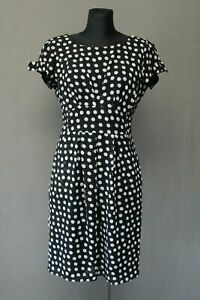 JOSEPH RIBKOFF Damen Kleid Gr. 36 , UK 10 Dress Schwarz Gepunktet Canada .1