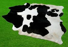 """New Cowhide Rugs Area Cow Skin Leather 25.53 sq.feet (59""""x55"""") Cow hide A-5901"""
