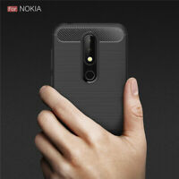 Luxury Slim Tough Bumper Rugged Armor Case Cover For Nokia 7.1 - Matte Black