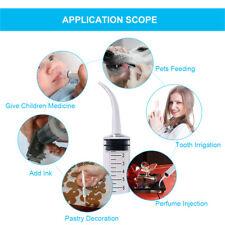 10pcs Dental Irrigation Syringe Curved Tip Elbow Oral Conveyor 12ml Disposable