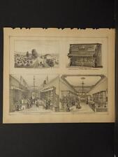 New York, Chautauqua County Map, 1881 Engravings, Jamestown, Arkwright J1#60