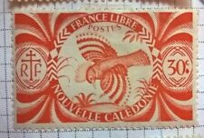 Nouvelle Caledonie stamps - Kagu (Rhynochetos jubatus)  1942 30c - FREE P & P