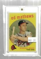 1959 Topps Ed Mathews baseball card - Milwaukee Braves
