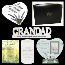 Grandad Graveside Memorial Memory Plaque, Candle, Card - Choose Design